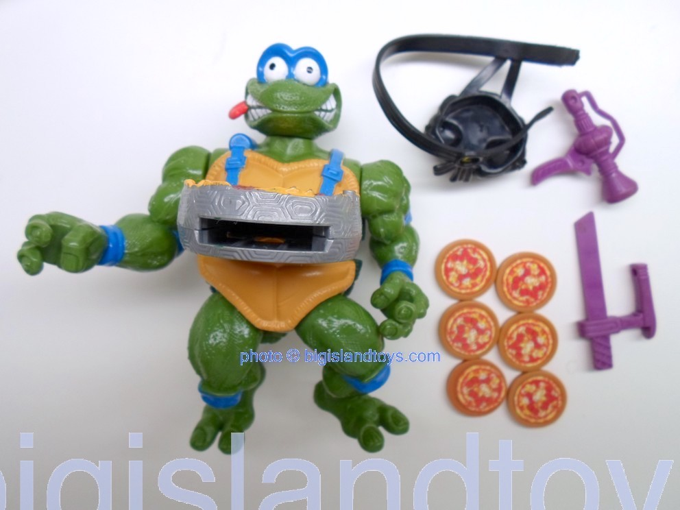 Teenage Mutant Ninja Turtles 1994 Figures   Pizza Tossin LEO