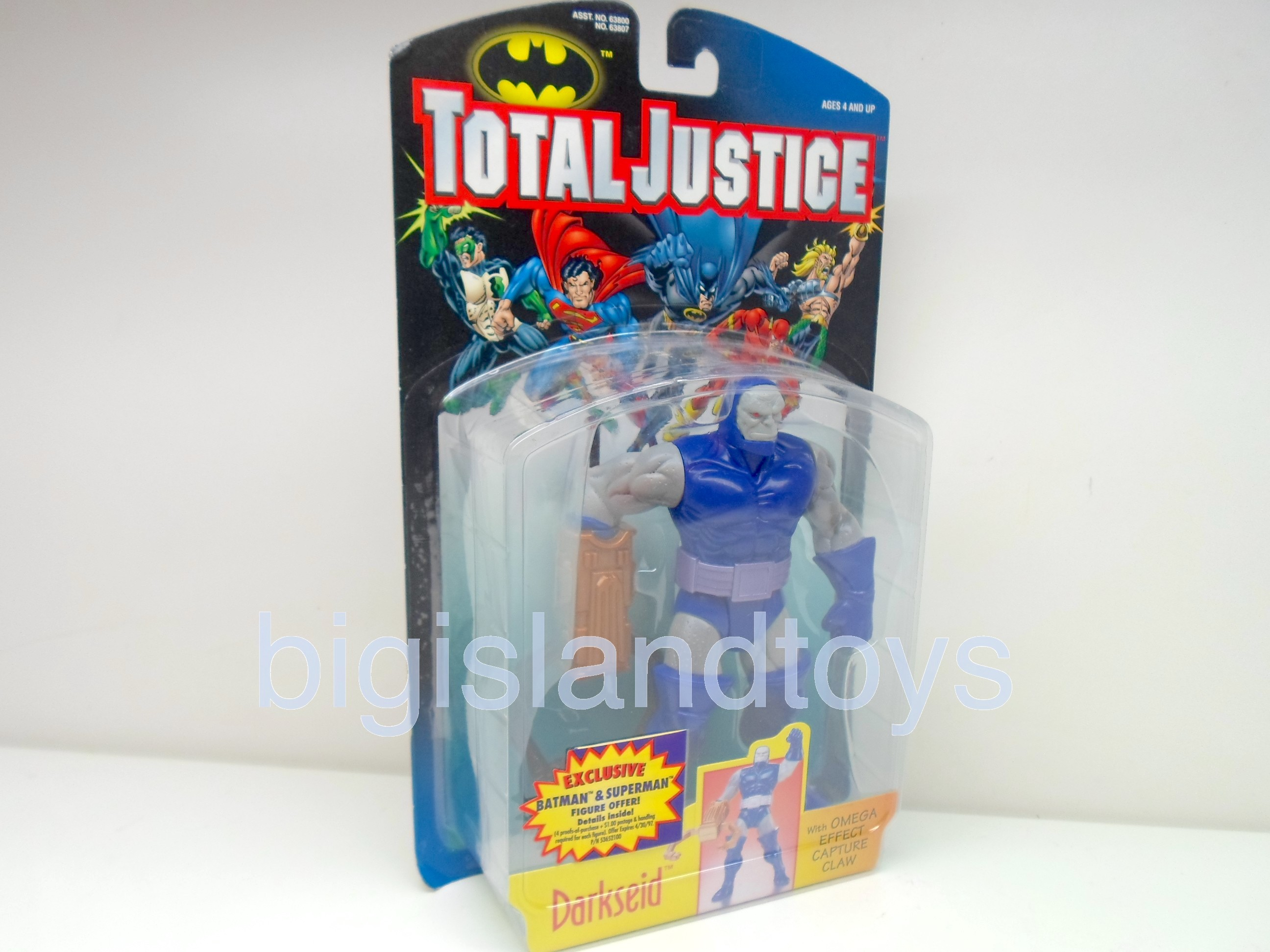 Total Justice    DARKSEID with Omega Effect Capture Claw Thin Package