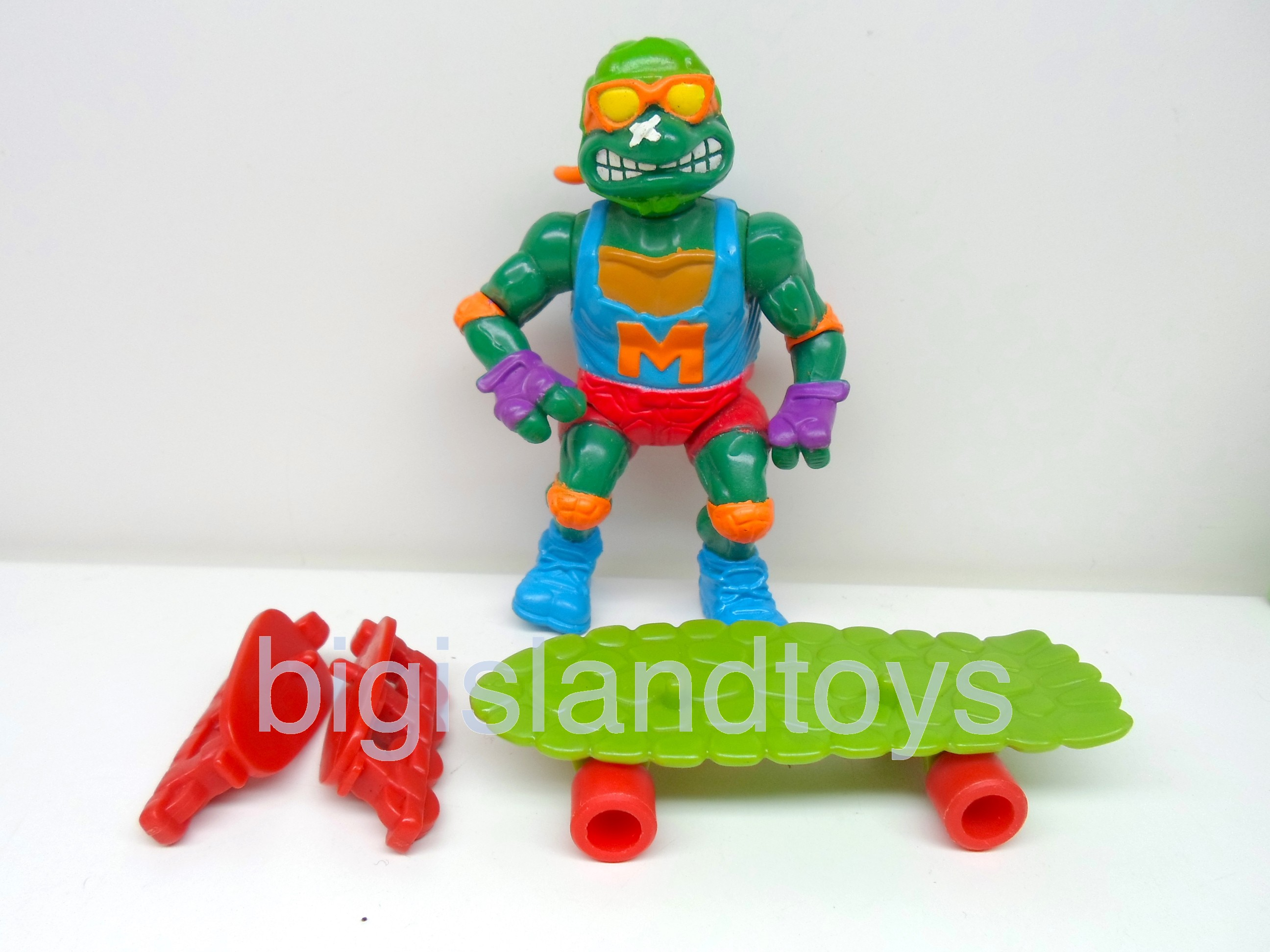 Teenage Mutant Ninja Turtles 1991 Figures   Skateboardin Mike