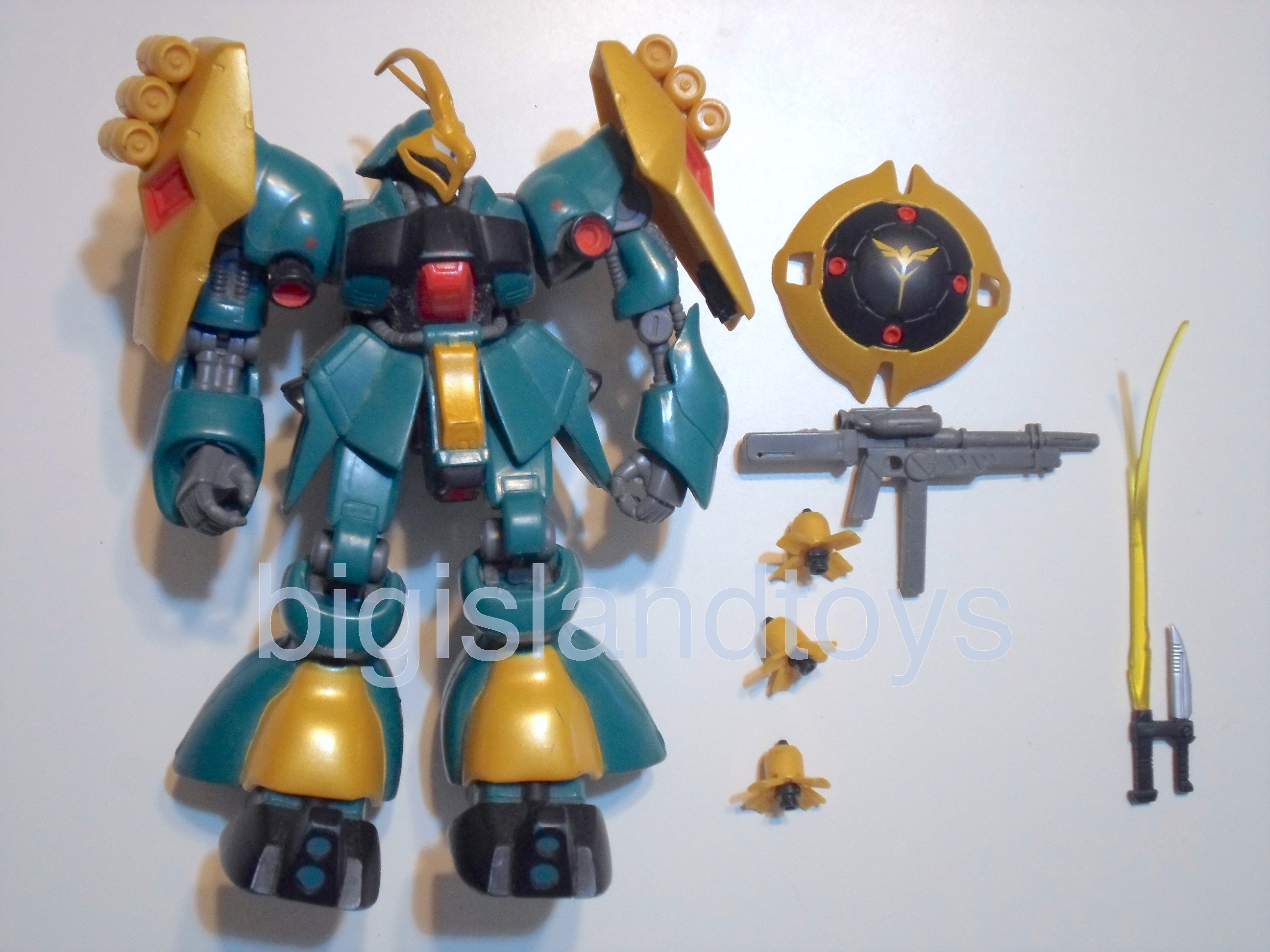 Gundam  Mobile Suit   MSM-03 Jagd Doga Green with Yellow details Complete