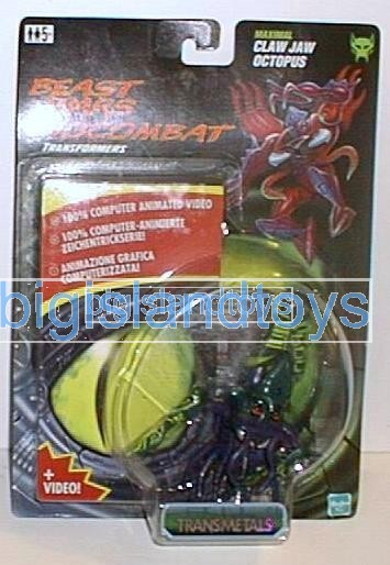 Transformers Beast Wars 1998  Claw Jaw with videoEurope Ex
