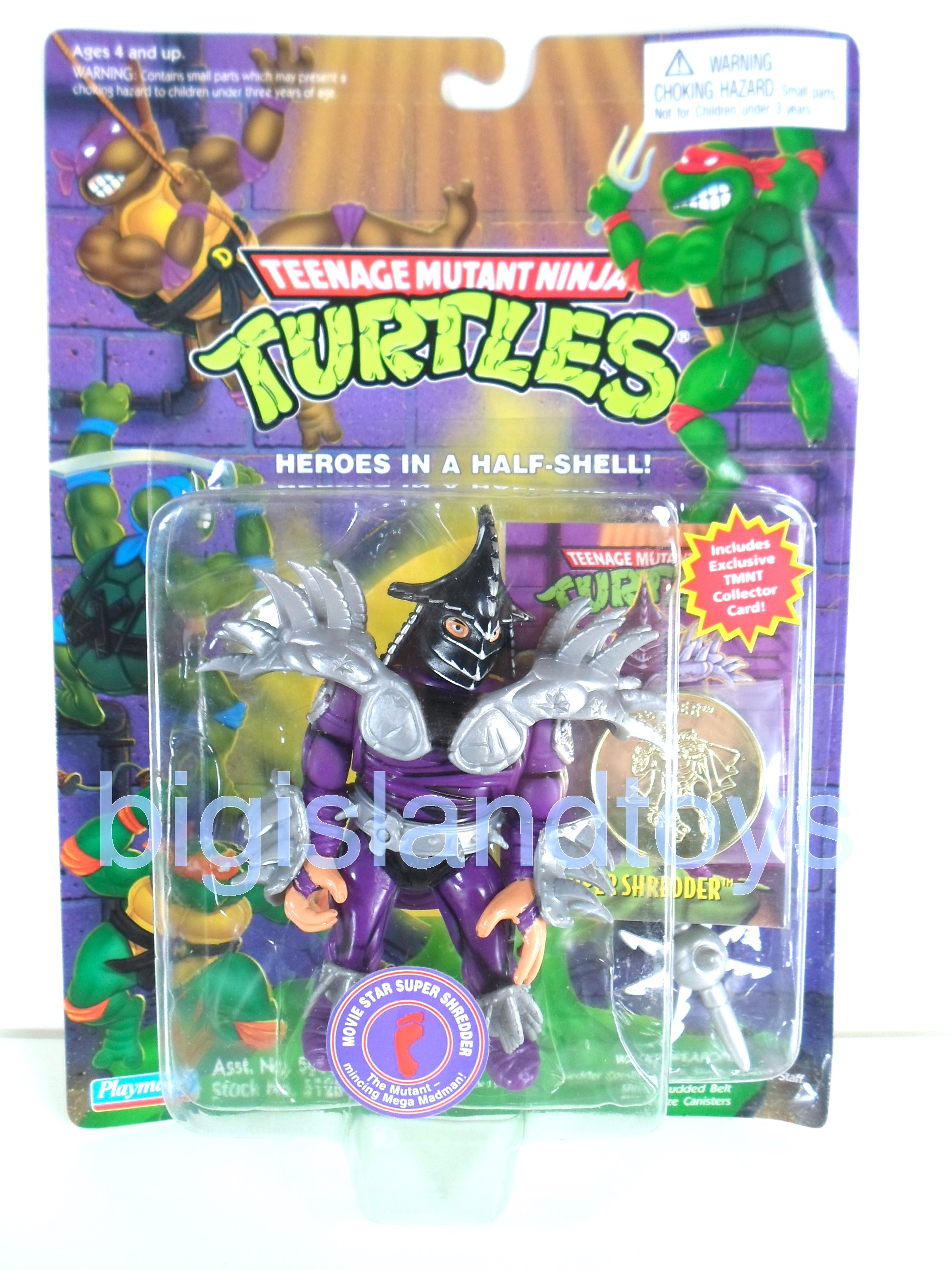 Teenage Mutant Ninja Turtles     Movie Star Super Shredder with Card and Coin