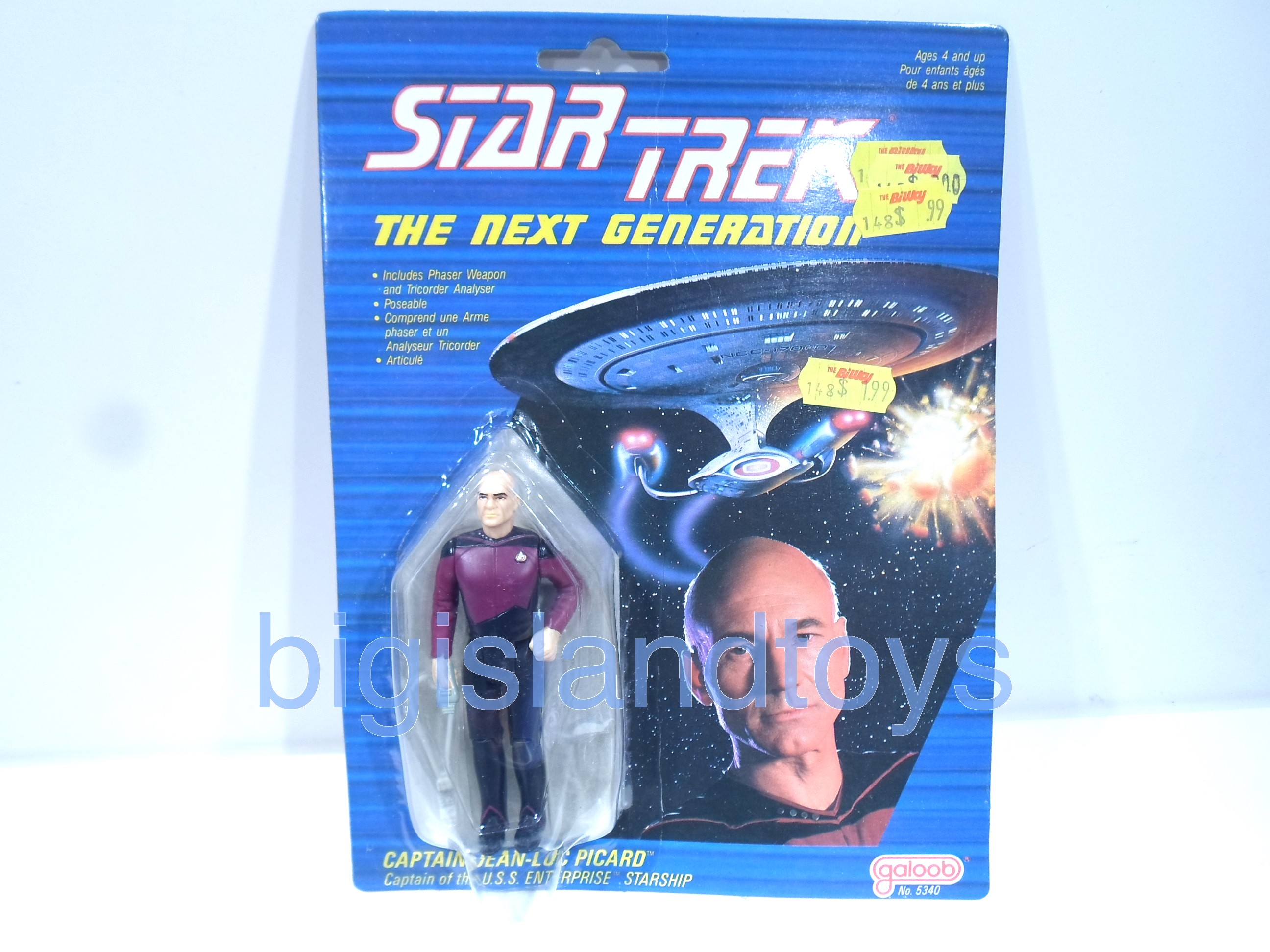 Star Trek  Galoob   Captain Picard