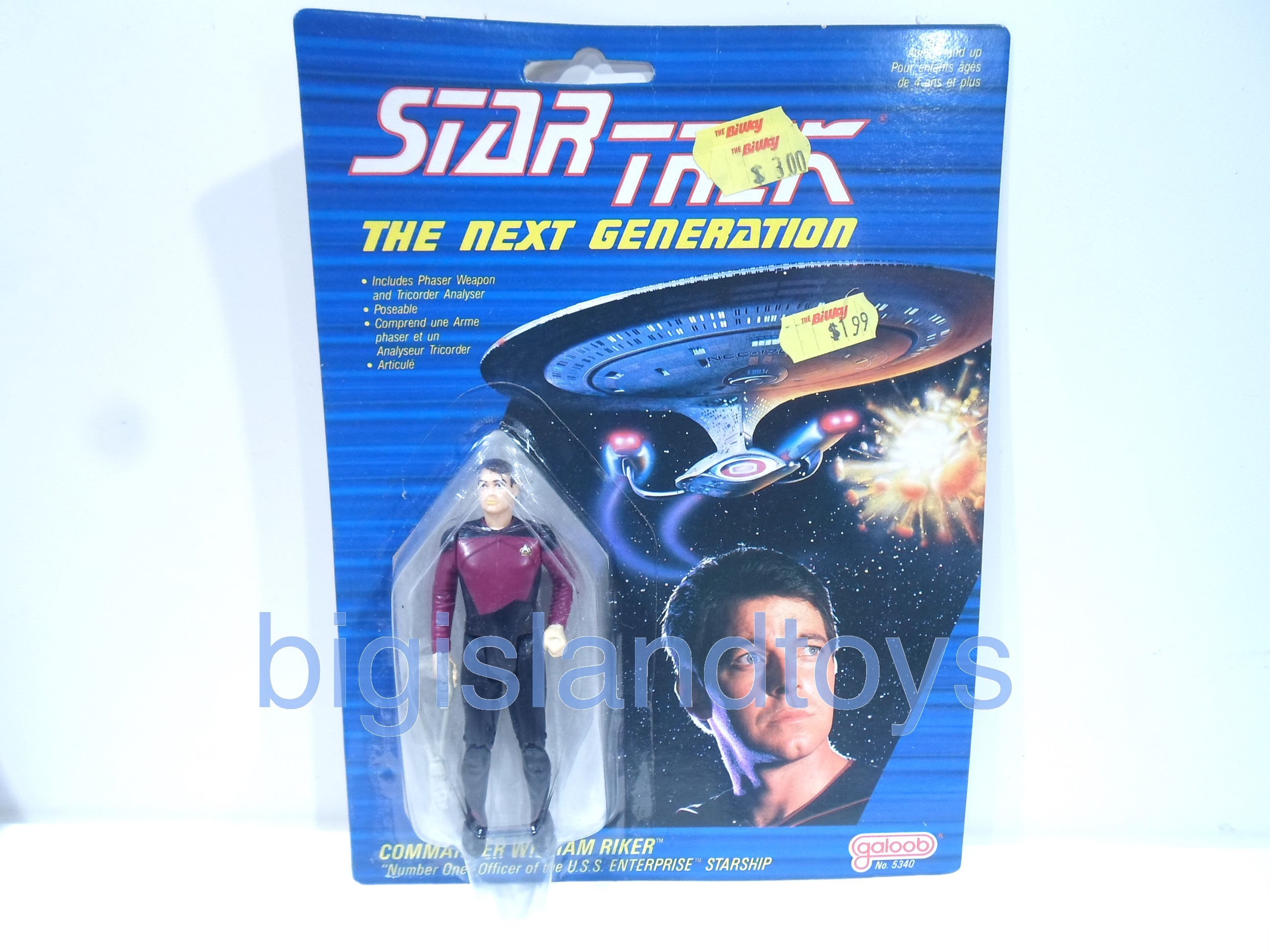Star Trek  Galoob   Commander Riker