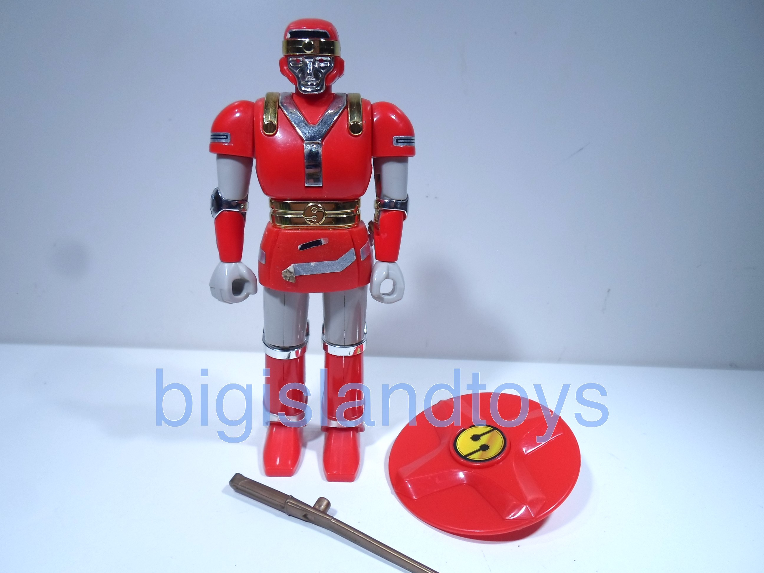 Power Rangers Mighty Morphin 5.5 inch Rangers  Red Battle Borg