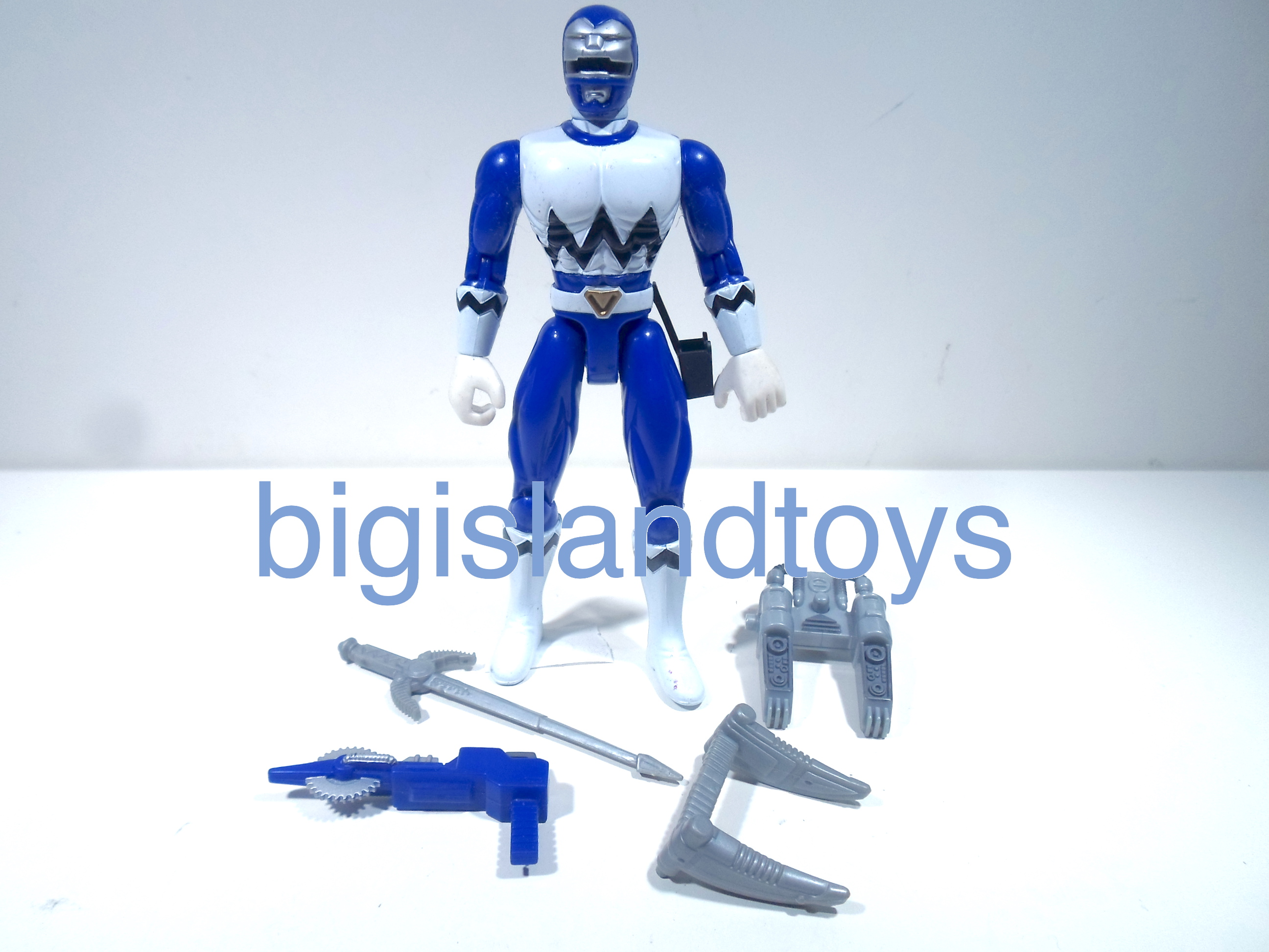 Power Rangers Lost Galaxy Action Figures  Talking Blue Galaxy Power Ranger
